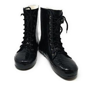 Women Rubber Ankle High Rain boots, # 6027, Croco